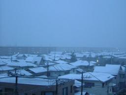 雪景色 6時頃