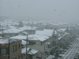 雪景色 8時頃