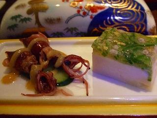 蛍烏賊とおくらの胡麻豆腐