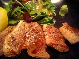 鴨ロースの塩焼き
