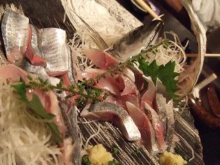 鯵と秋刀魚のお造り