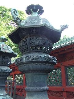 上野東照宮鉄灯篭