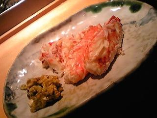 蟹の足肉と味噌