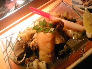 煮貝の盛り合わせ