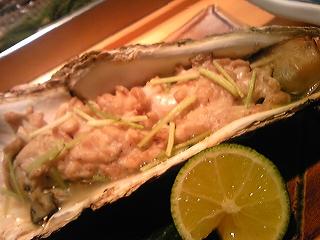 焼き牡蠣と白子