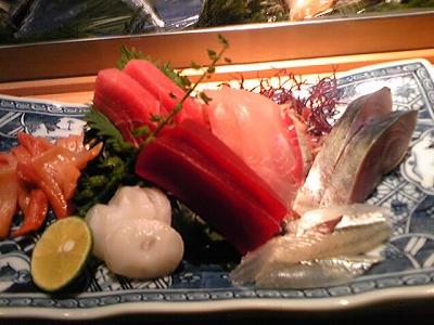 マグロ、ヅケ、ホウボウ、しめ鯖、赤貝、タコ、サヨリ