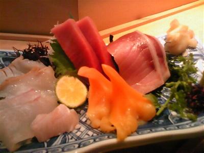マグロ、ブリ、ヒラメ、エンガワ、赤貝、サザエ