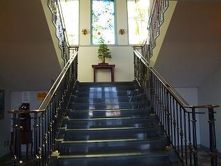 湖畔展望館1F階段