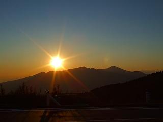 箱根スカイラインからの夕日