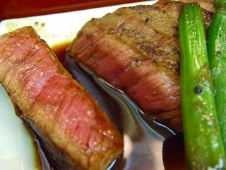 大名前上段:近江牛のステーキ2
