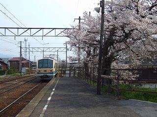 近江鉄道 高宮駅ホーム