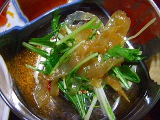 水菜とクラゲのサラダ