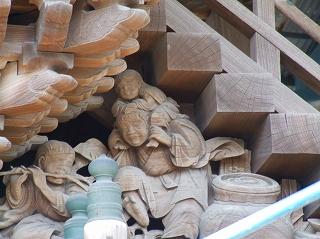 清瀧神社の本殿彫刻