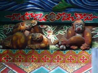 秩父神社 三猿