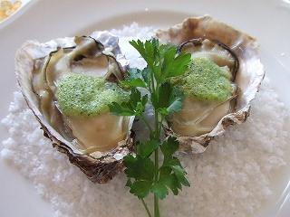 牡蠣のプルギニヨン風