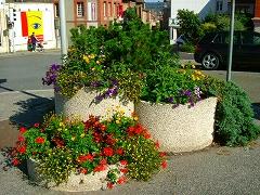 街角の花壇